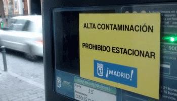 alta contaminación Madrid