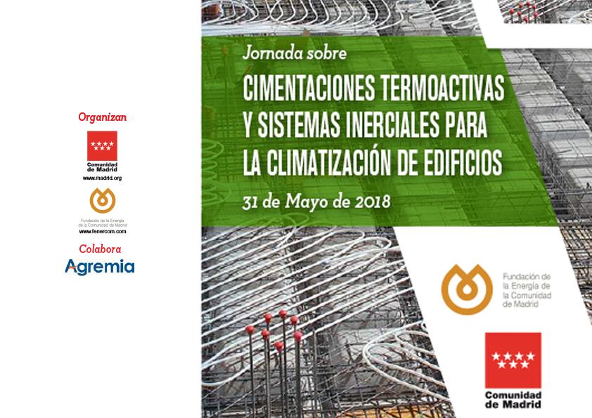 jornada Fenercom cimentaciones termoactivas y sistemas inerciales para la climatización de edificios