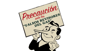 falso revisor gas